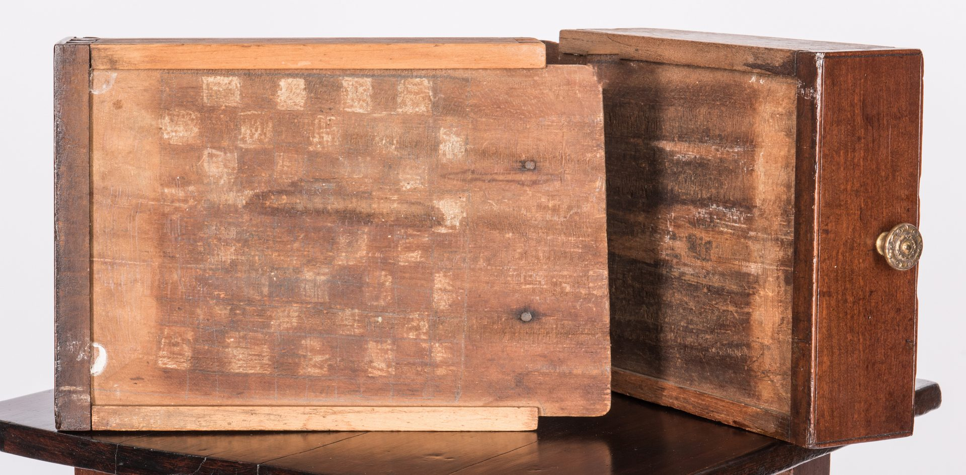 Lot 113: Southern Cherry Two-Drawer Table