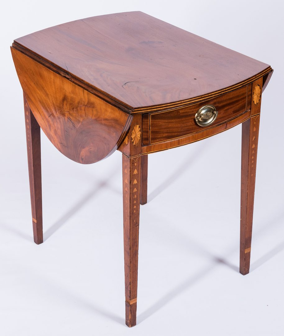 Lot 115: Federal Inlaid Table, poss. Baltimore