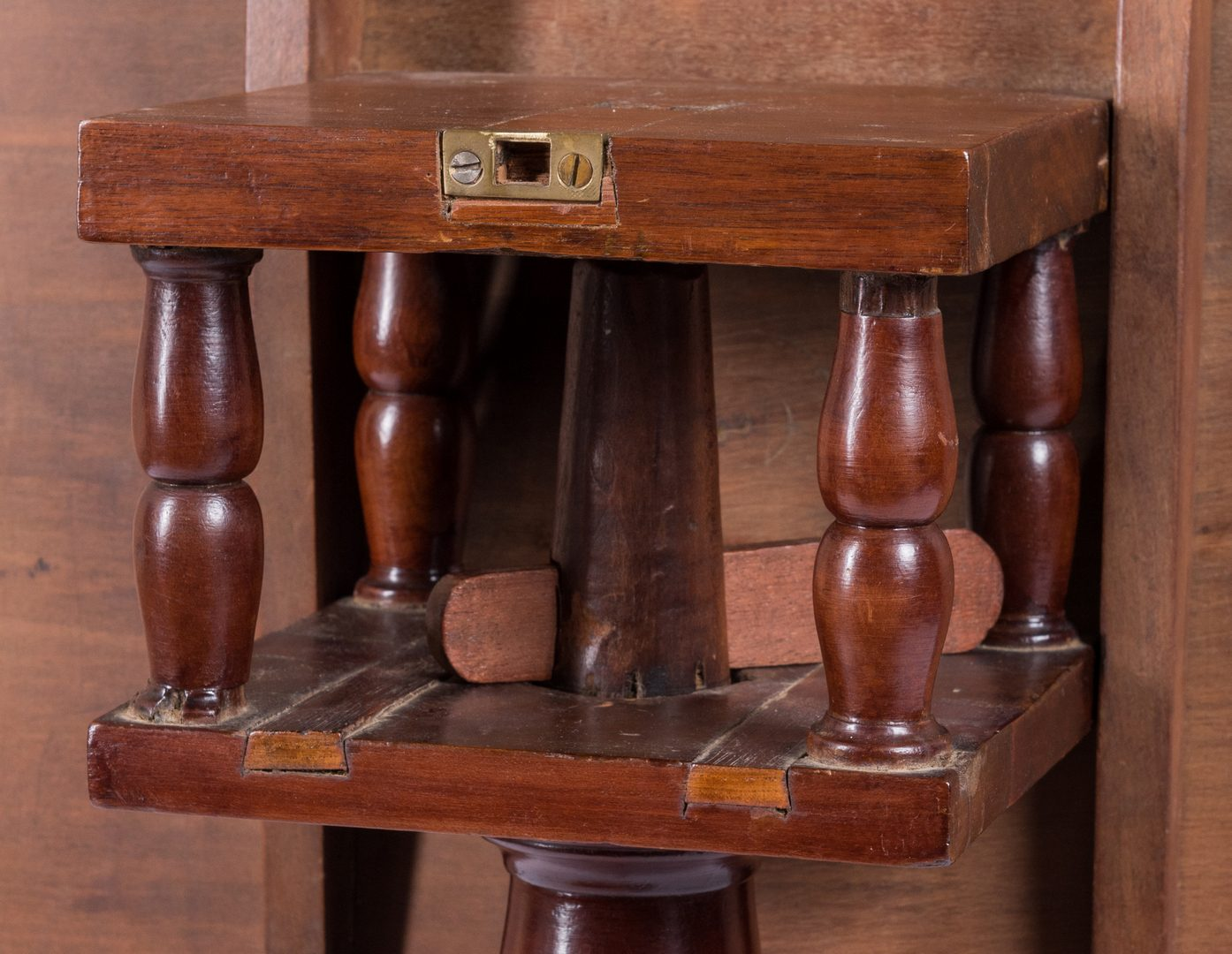 Lot 117: East TN Inlaid Tea Table, early 19th c.