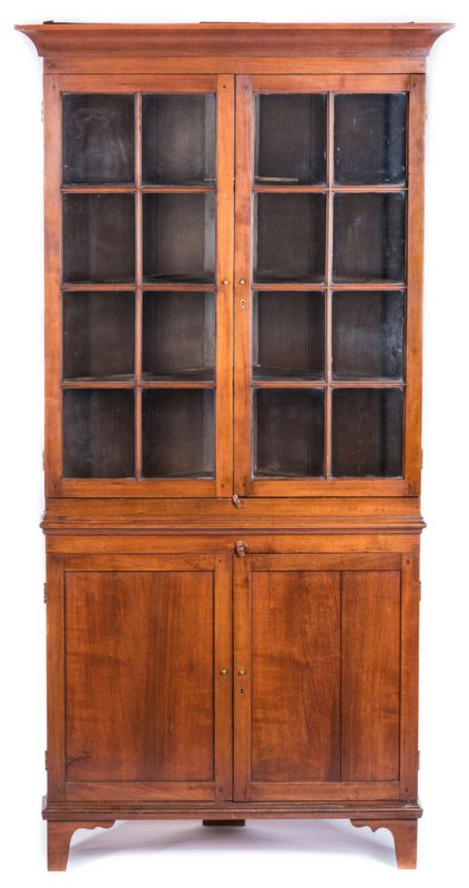 Lot 119: East Tennessee Corner Cupboard, 1820