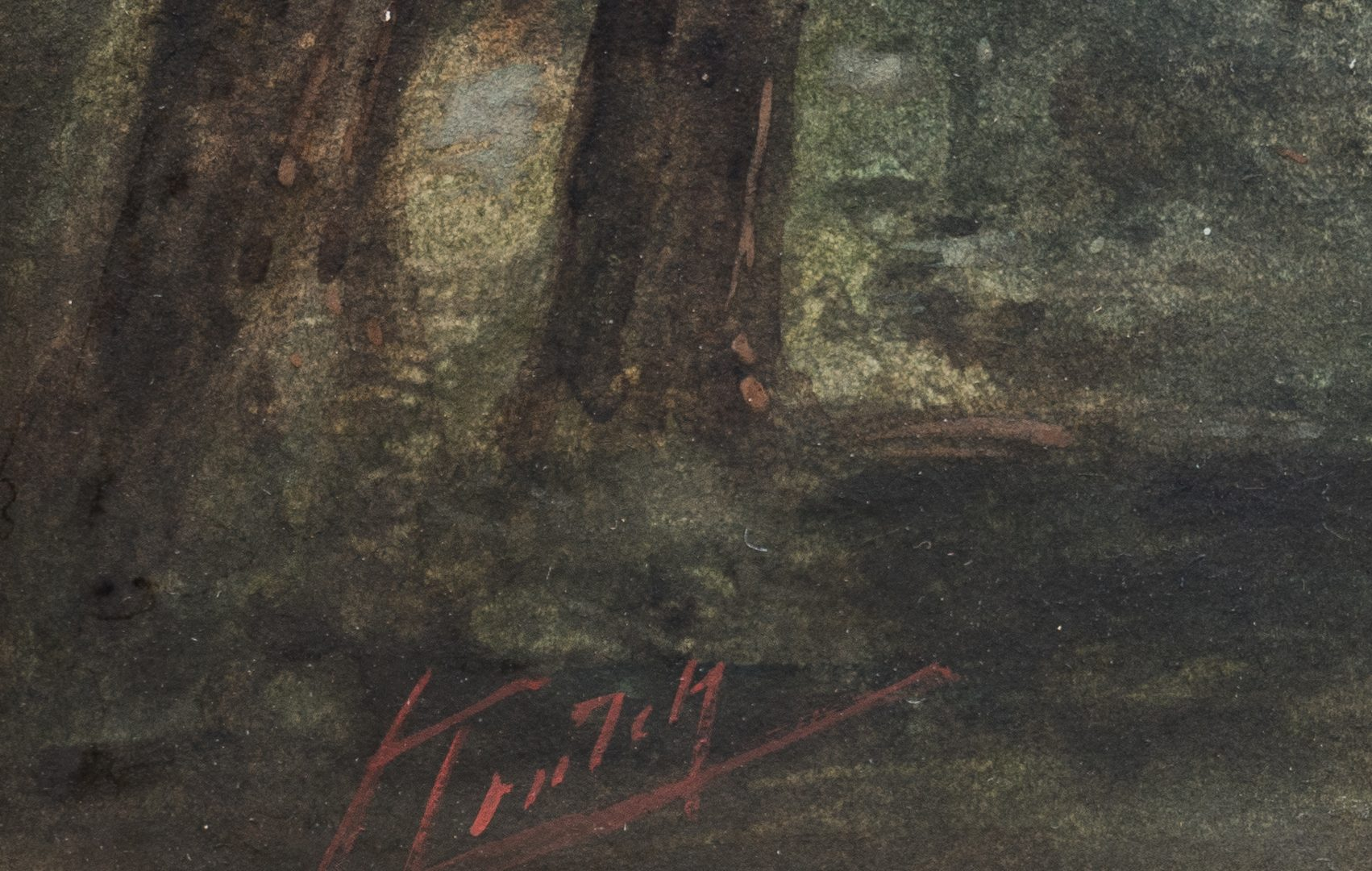 Lot 123: Charles Krutch Watercolor Landscape