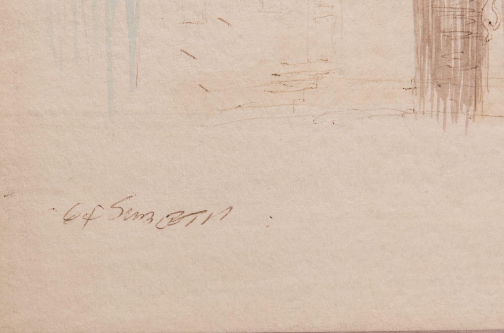 "Lot 124: Carl Sublett Watercolor, ""Van Deventer Home"""