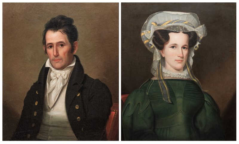 Lot 125: Pair of Ralph Earl Tennessee Portraits
