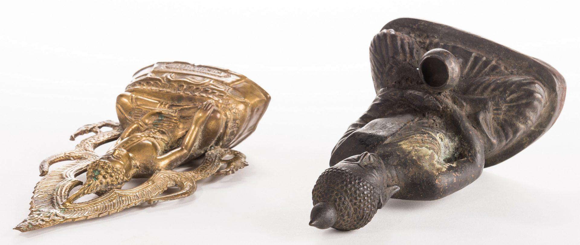 Lot 12: 2 Thai Bronze Bodhisattva Figures