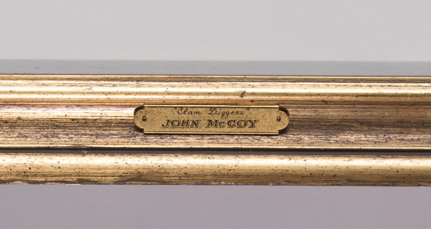 Lot 138: John McCoy Watercolor, Clam Diggers