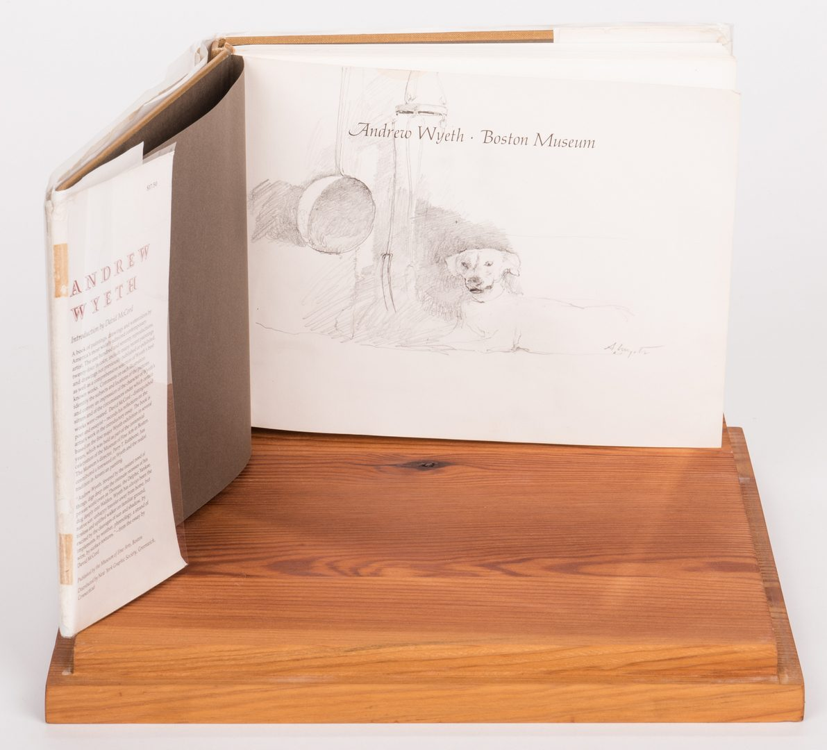 Lot 139: Andrew Wyeth Book w/ Authenticated Andrew Wyeth Sketch