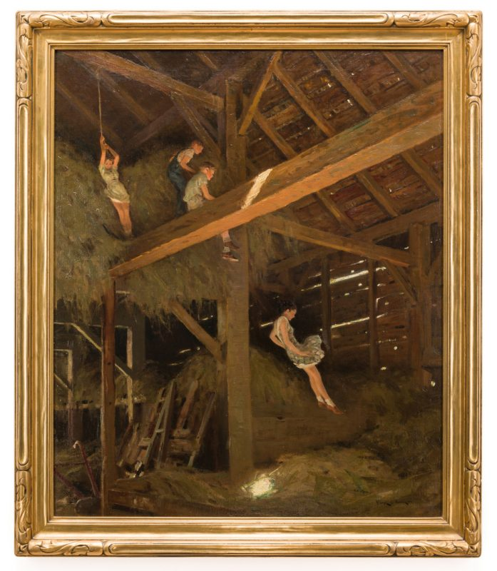 Lot 140: Victor C. Anderson Oil on Canvas & Studies, Barn Swallow