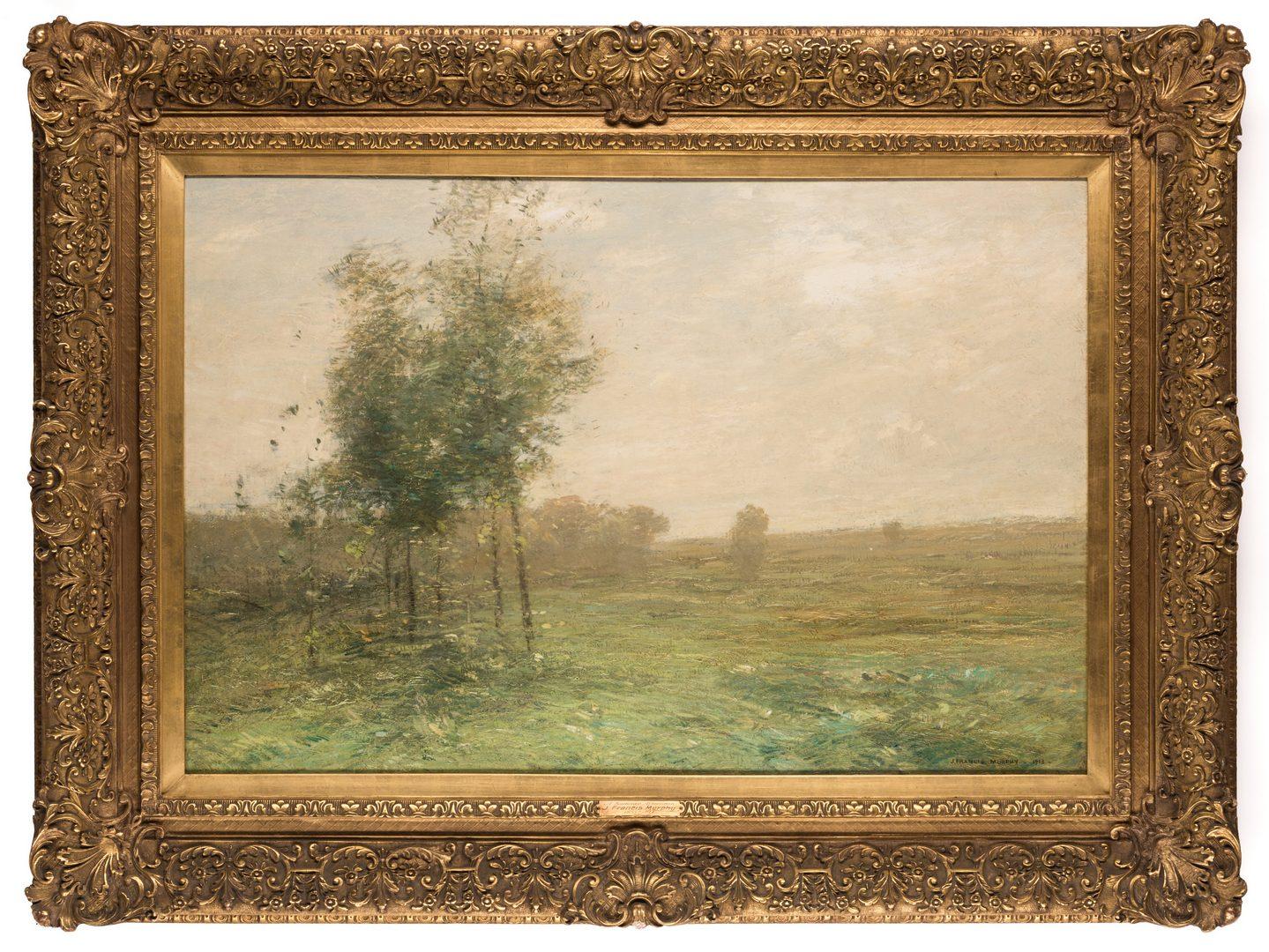 Lot 141: J. Francis Murphy Landscape Oil on Canvas