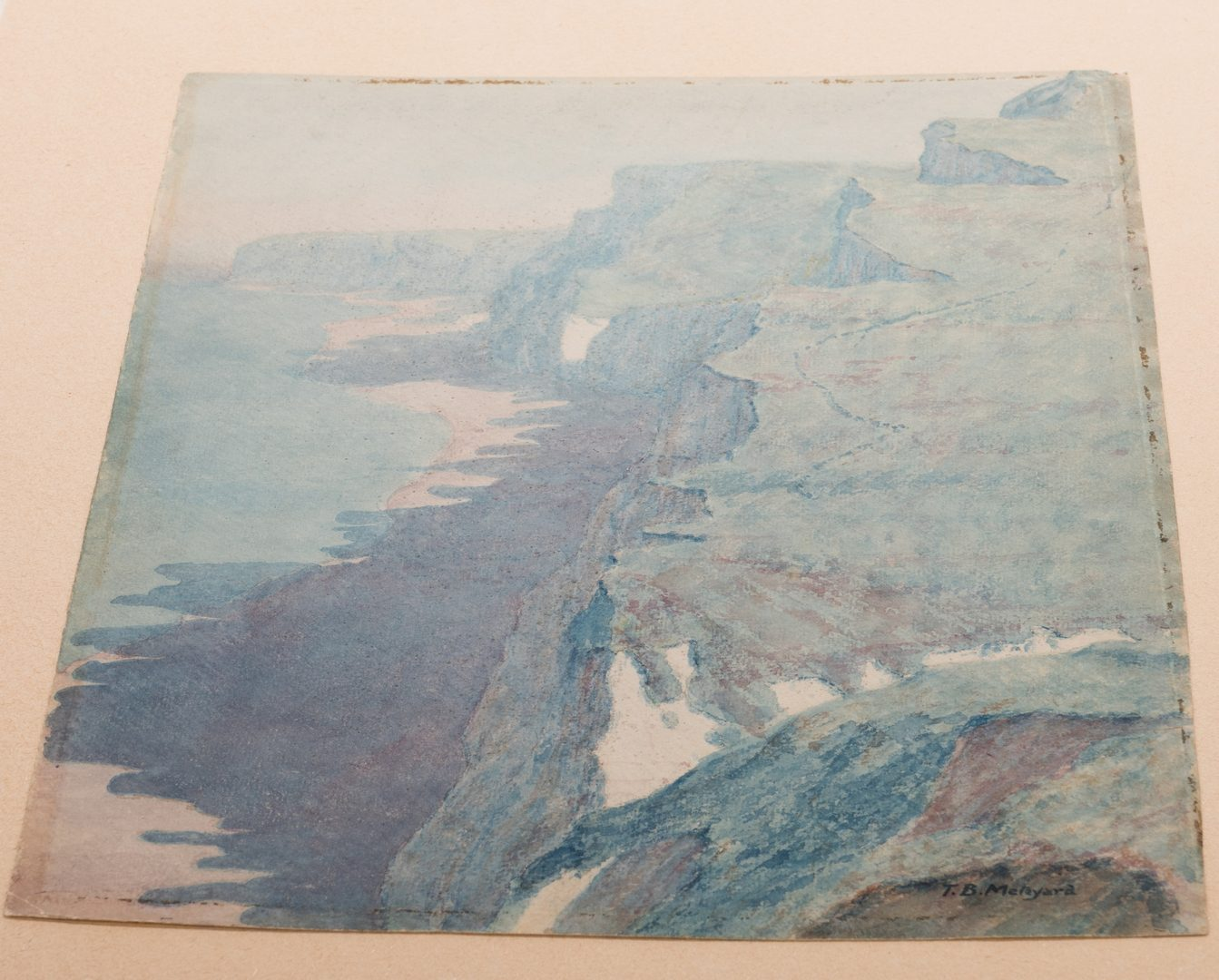 Lot 143: Thomas Meteyard Watercolor, Pastel Coastline