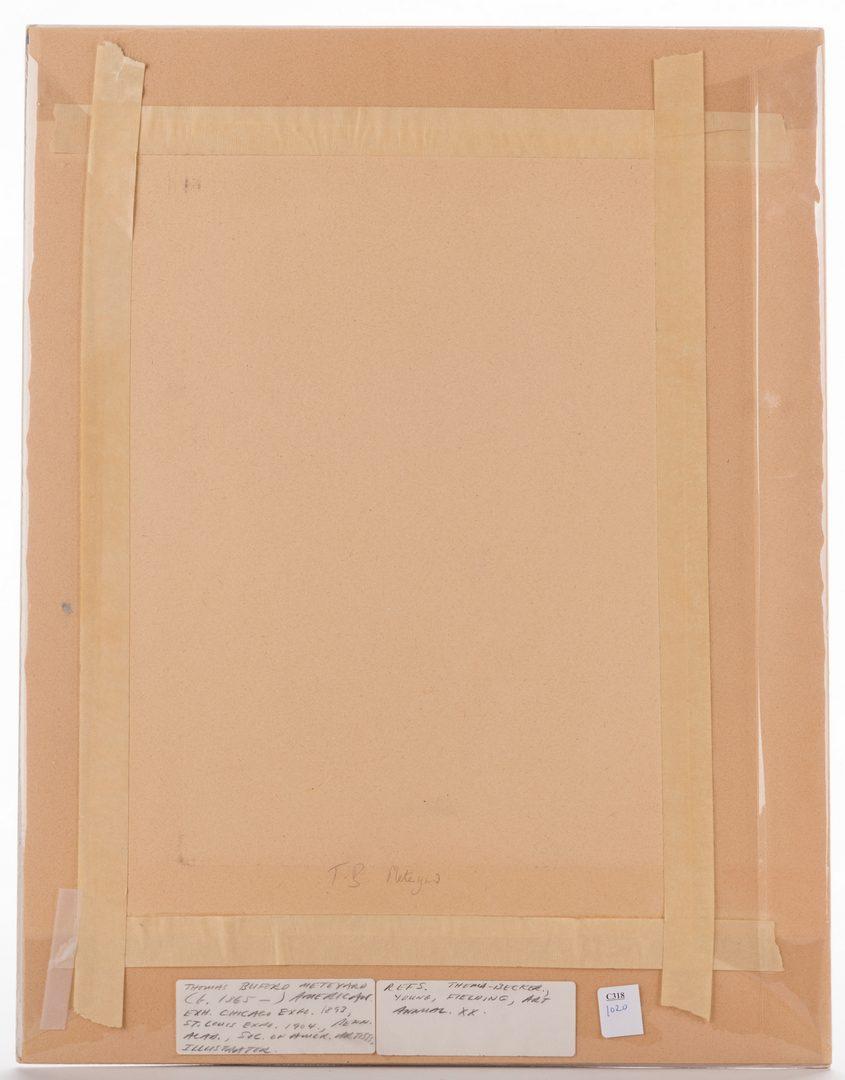 Lot 143: Thomas Meteyard Watercolor, Pastel Coastline
