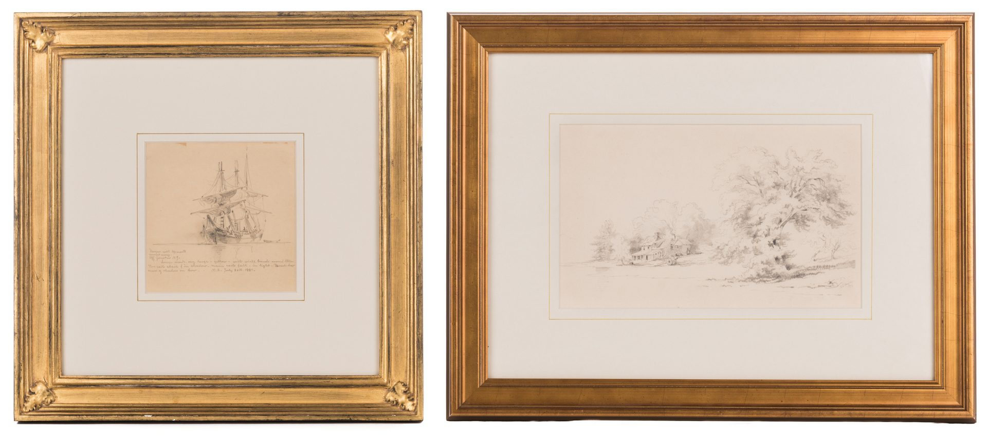 Lot 144: 2 Xanthus Russell Smith Pencil Drawings
