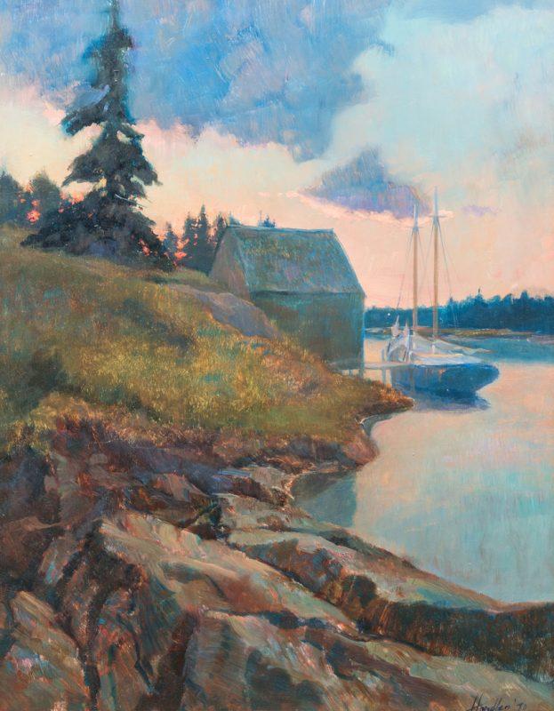 Lot 147: Frank Handlen, O/B, Luminist River Scene