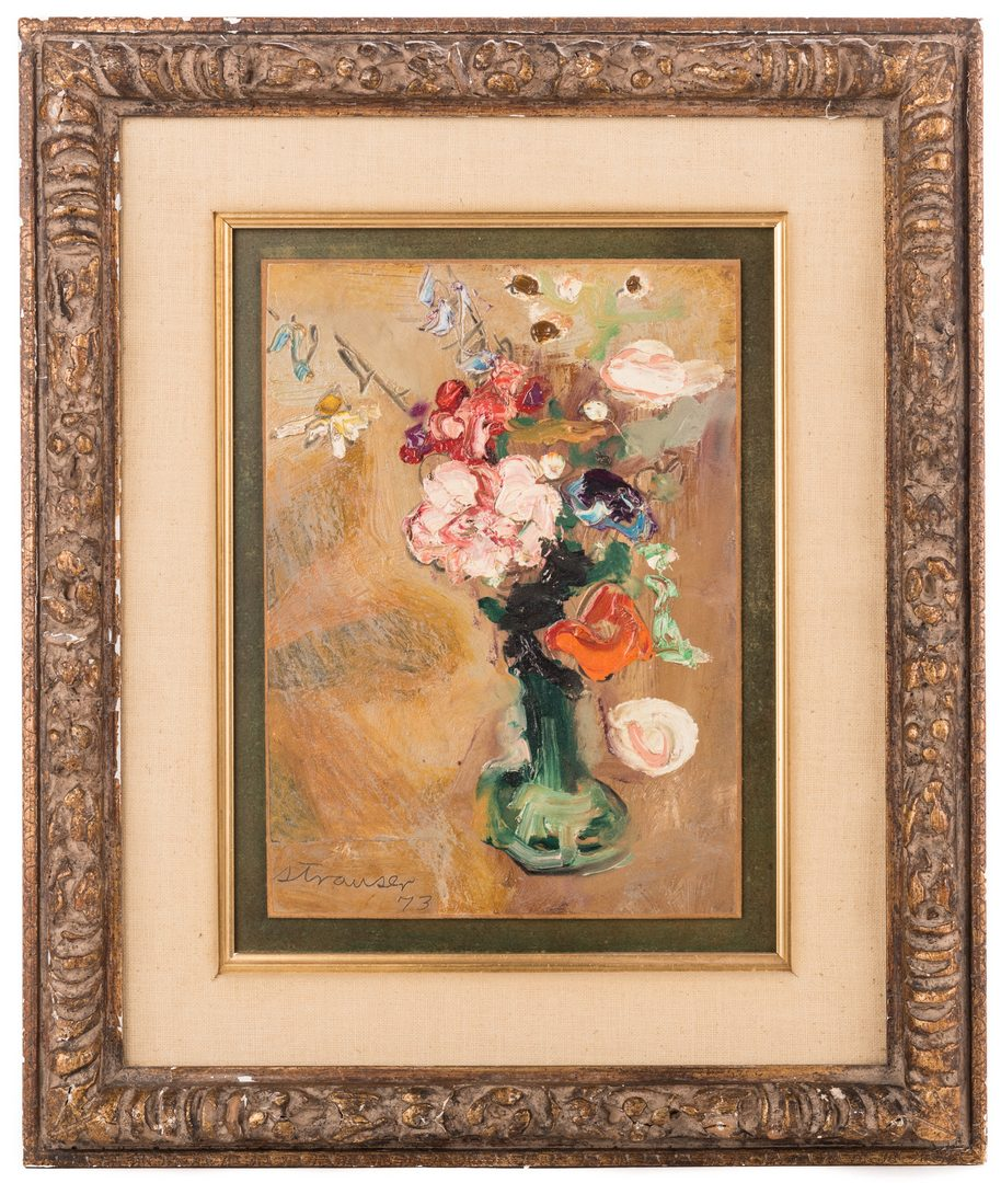 Lot 149: 2 Sterling Strauser Floral Still Life Paintings