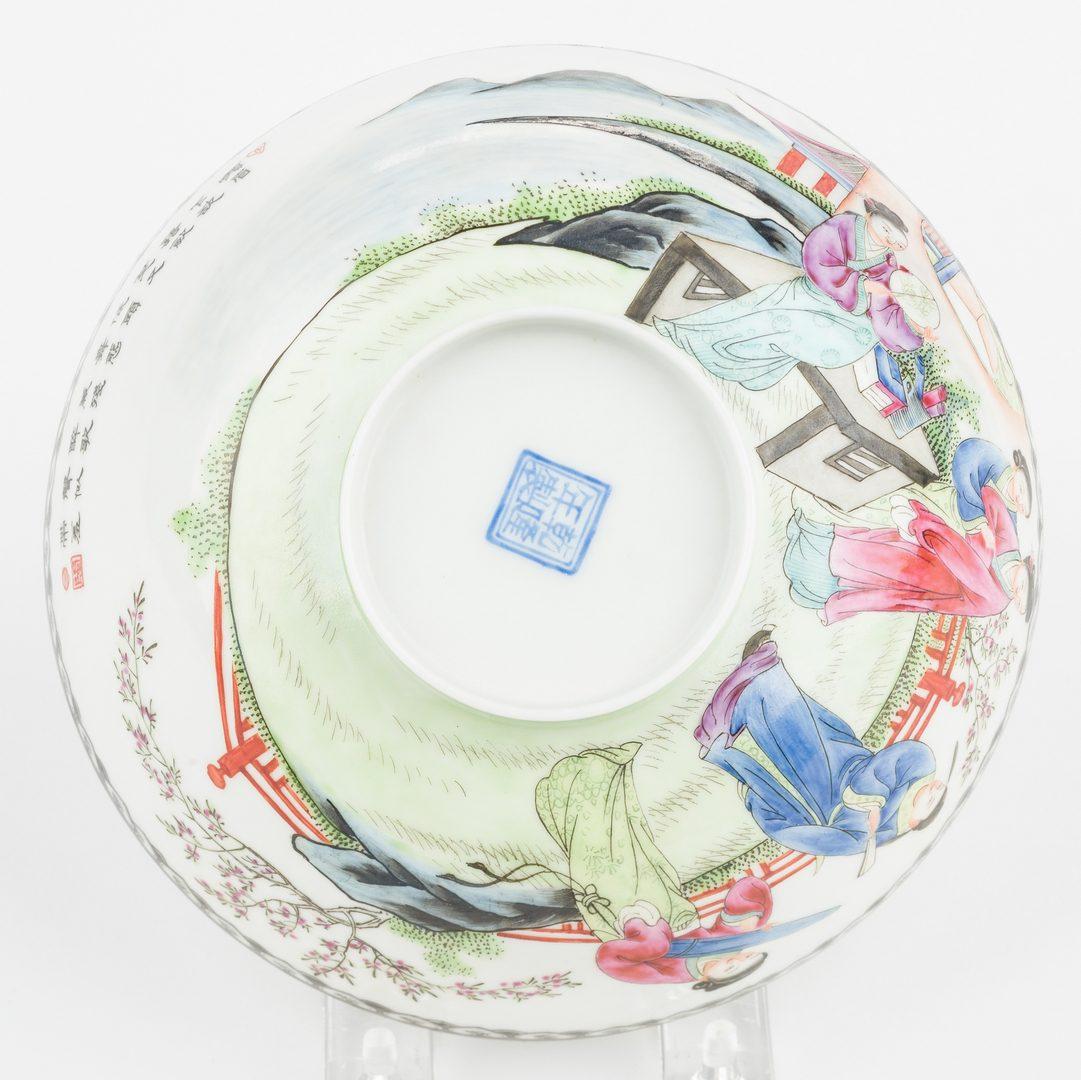 Lot 14: Chinese Fencai Enamel Eggshell Bowl