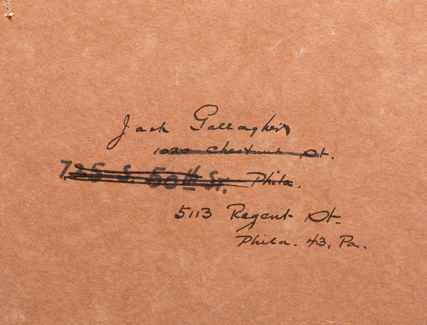 Lot 150: Jack L. Gallagher, O/B, Stagehand