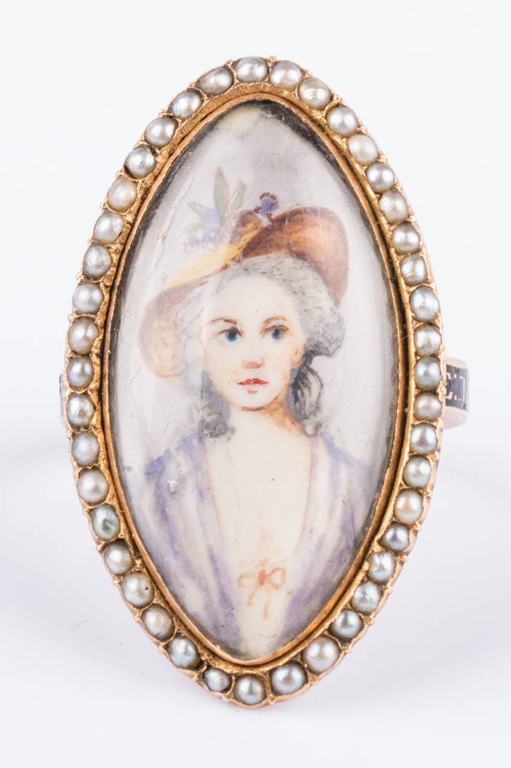 Lot 165 Mourning Portrait Ring And Miniature Portrait