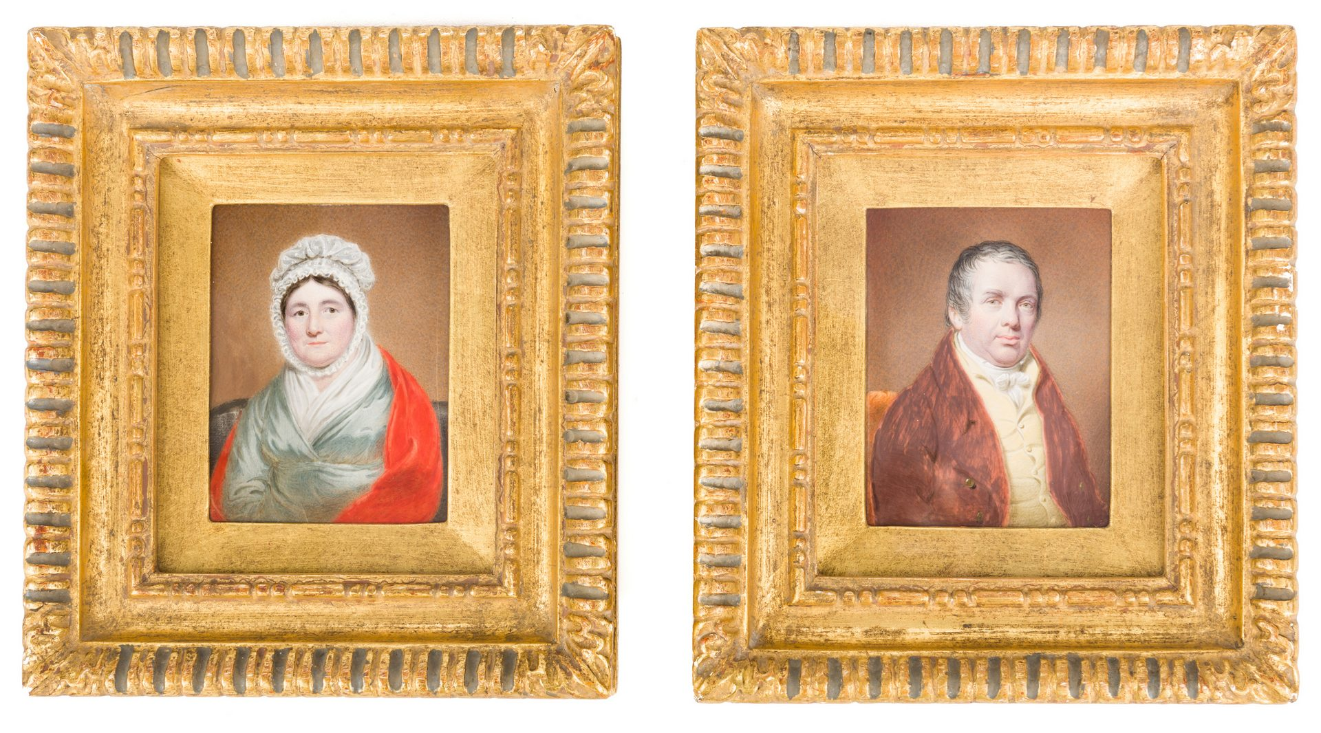 Lot 166: Pair of Miniature Portraits, 19th century