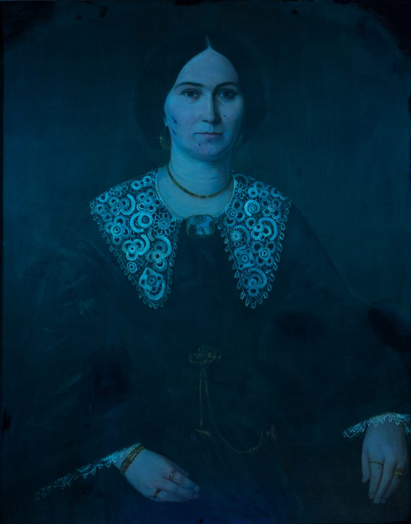 Lot 171: Attr. Francois Bernard, Portrait of Young Woman in Mourning
