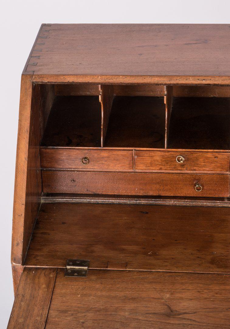 Lot 176: Early East TN Walnut Slant-front Desk, Chippendale Style