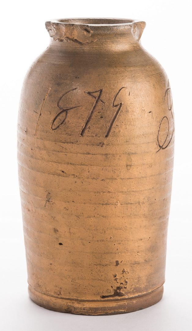 Lot 183: Southwest VA Jesse Vestal Stoneware Jar, Dated
