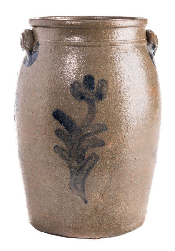 Lot 185: East TN Cobalt Stoneware Jar, Decker