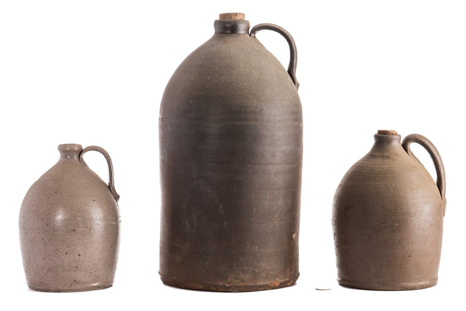Lot 186: 3 Middle TN Stoneware Jugs