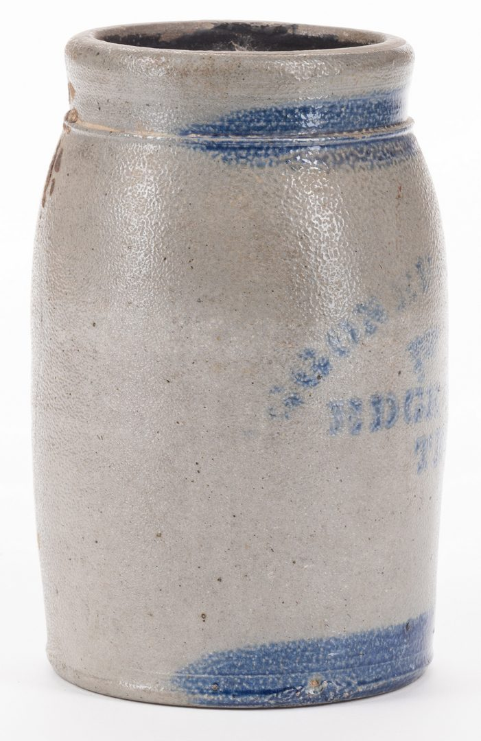 Lot 187: Edgefield TN Stoneware Pottery Jar