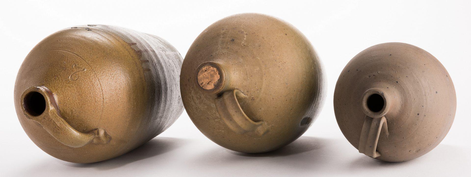 Lot 188: 3 Middle TN Stoneware Pottery Jugs
