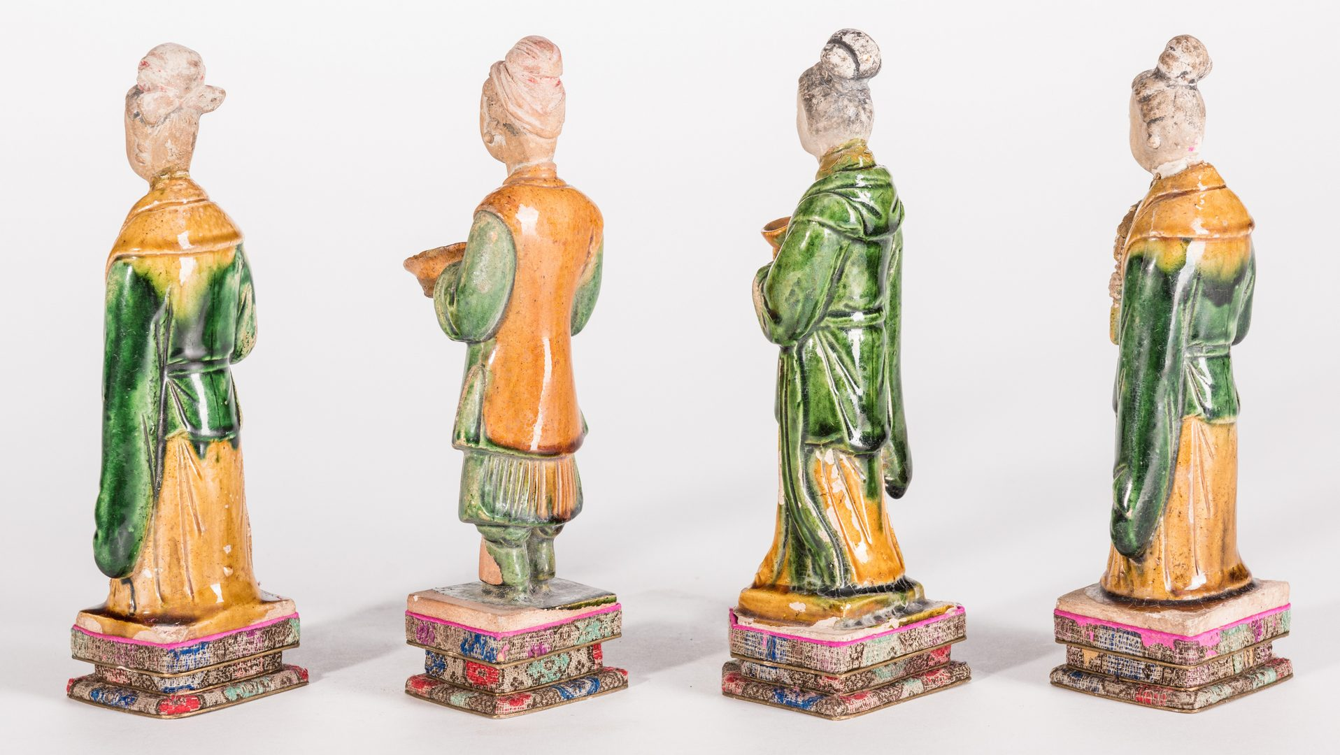 Lot 18: 4 Chinese Ming Sancai Tileworks Figures