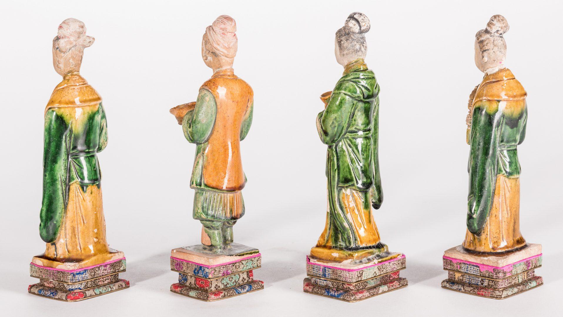 Lot 18: 4 Chinese Ming Sancai Tileworks Figures