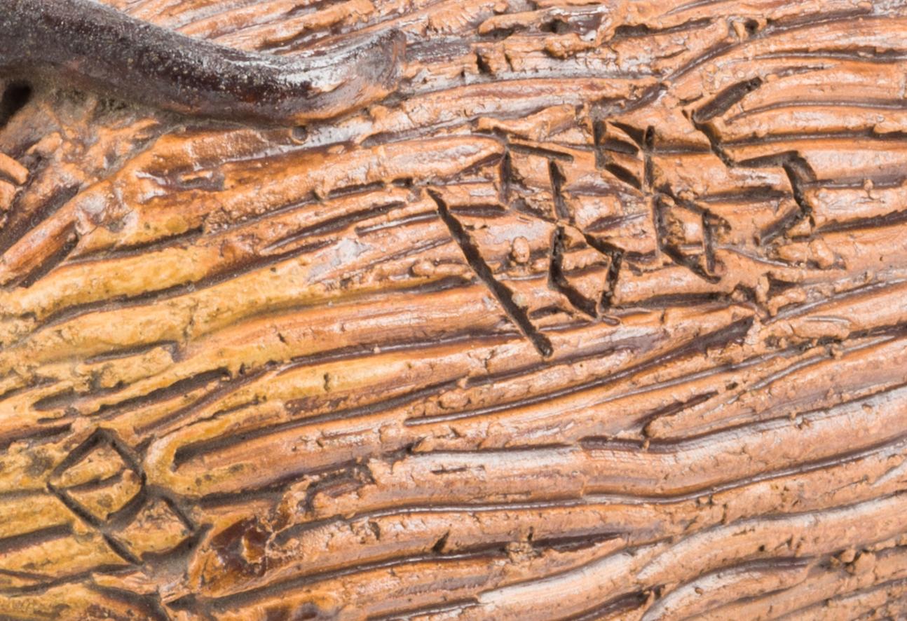 Lot 194: Signed & Dated Evansville, Indiana Temperance Snake Jug