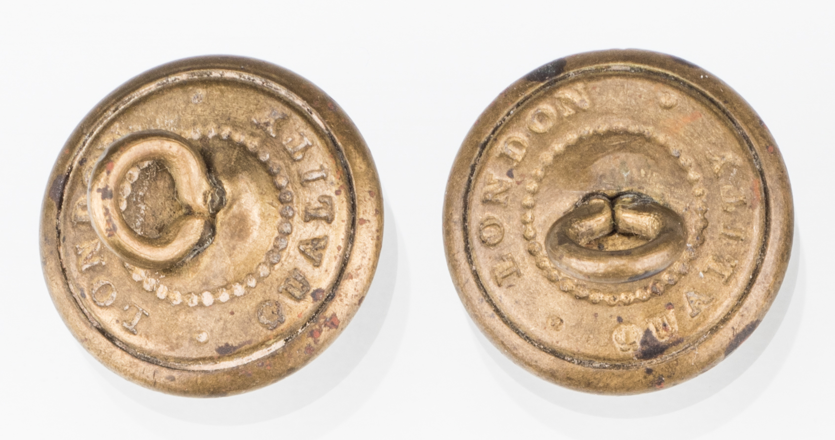 Lot 205: 4 Rare Confederate Uniform Buttons, Chatwin & Sons, Group #2