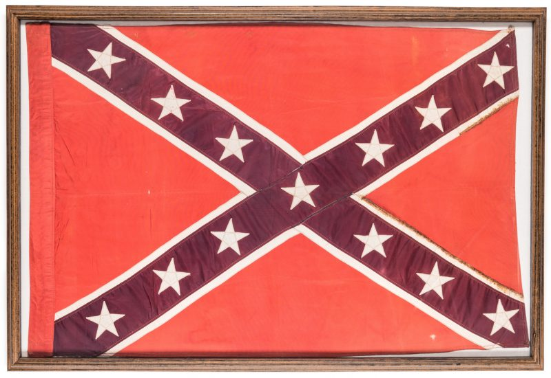 Lot 208: Framed United Confederate Veterans Flag