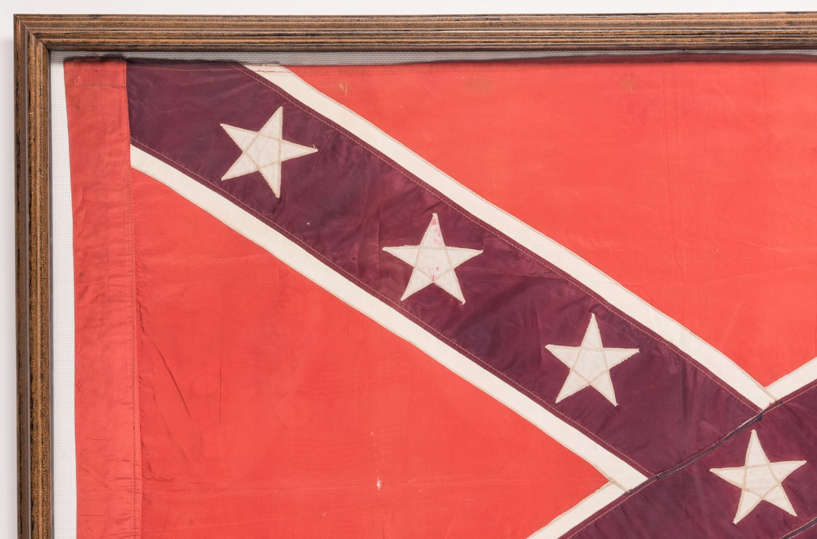 Lot 208: Framed United Confederate Veterans Flag