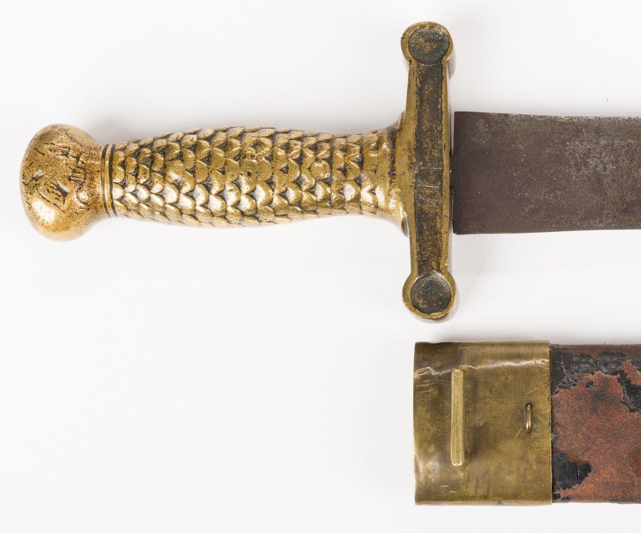 Lot 213: Confederate Artillery Short Sword & Scabbard