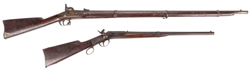Lot 217: 2 Civil War Rifles, Springfield & Perry