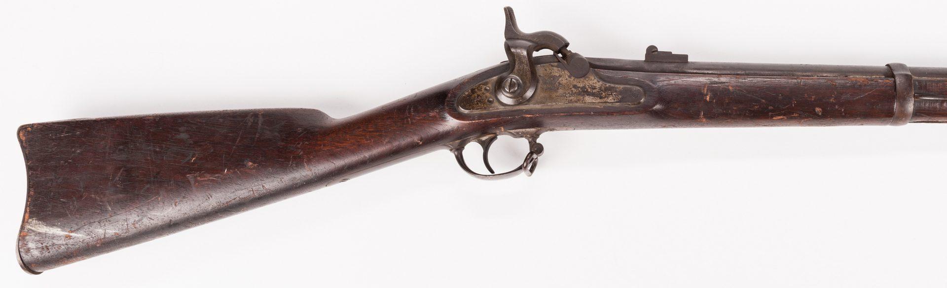 Lot 217: 2 Civil War Rifles, Springfield & Perry