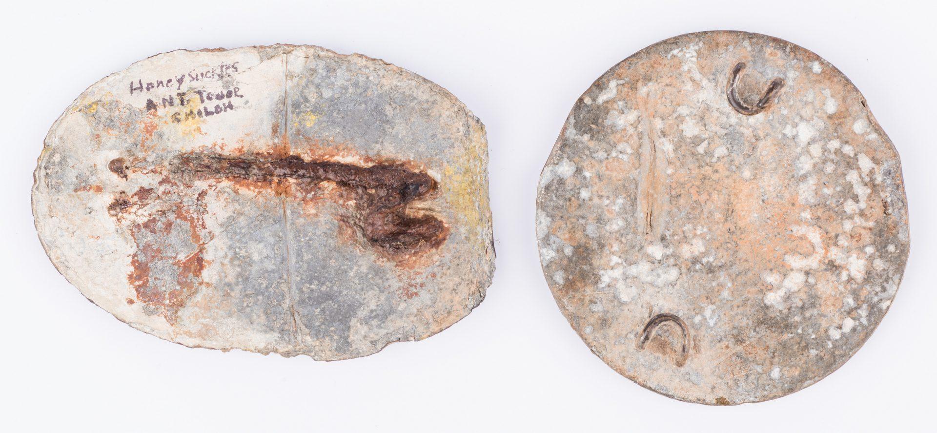 Lot 218: 2 Civil War Dug Relics, Eagle Breastplate & U.S. Cartridge Plate