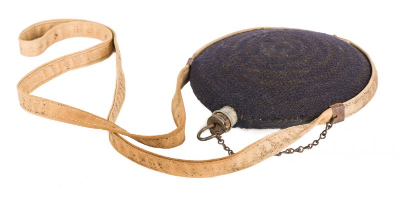 Lot 220: US Model 1858 Canteen w/ Cover, Sling & Stopper
