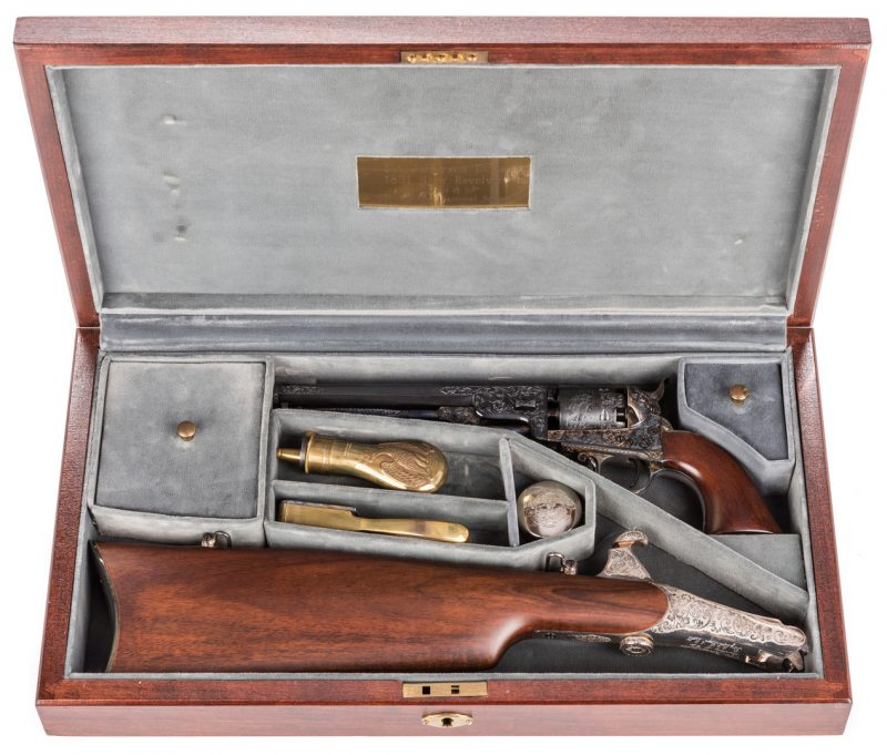 Lot 222: Comm. Jefferson Davis Navy 1851 Revolver, .36 Cal.