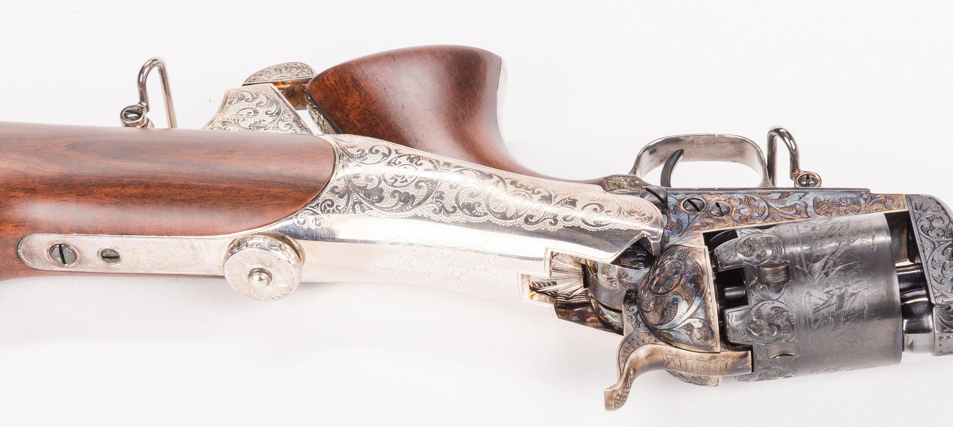 Lot 222: Comm. Jefferson Davis Navy 1851 Revolver, .36 Cal.
