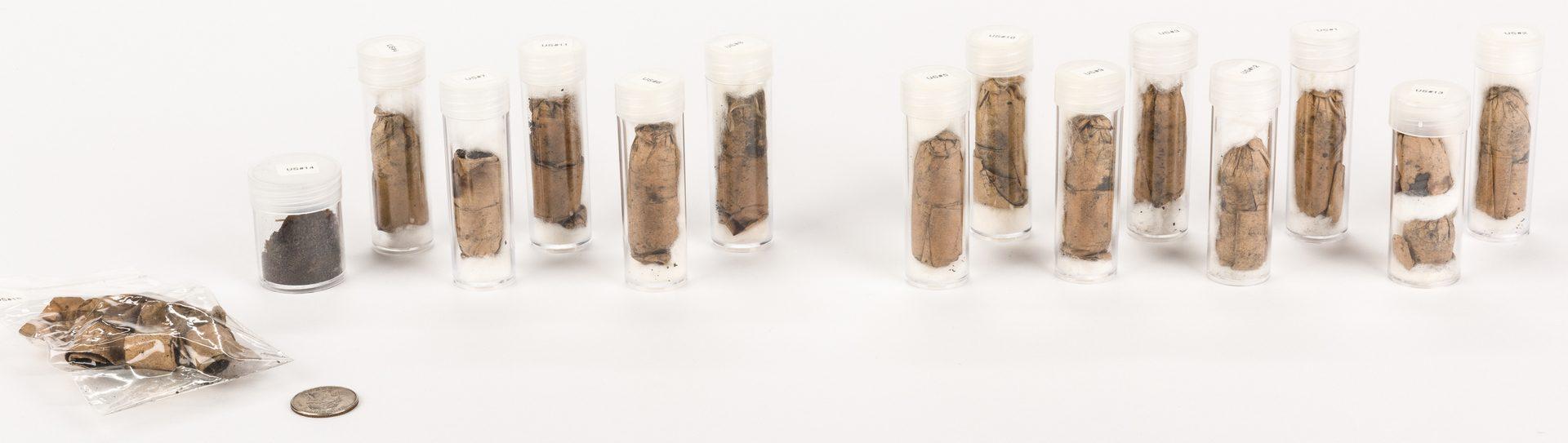 Lot 224: Collection Civil War Paper Musket Cartridges