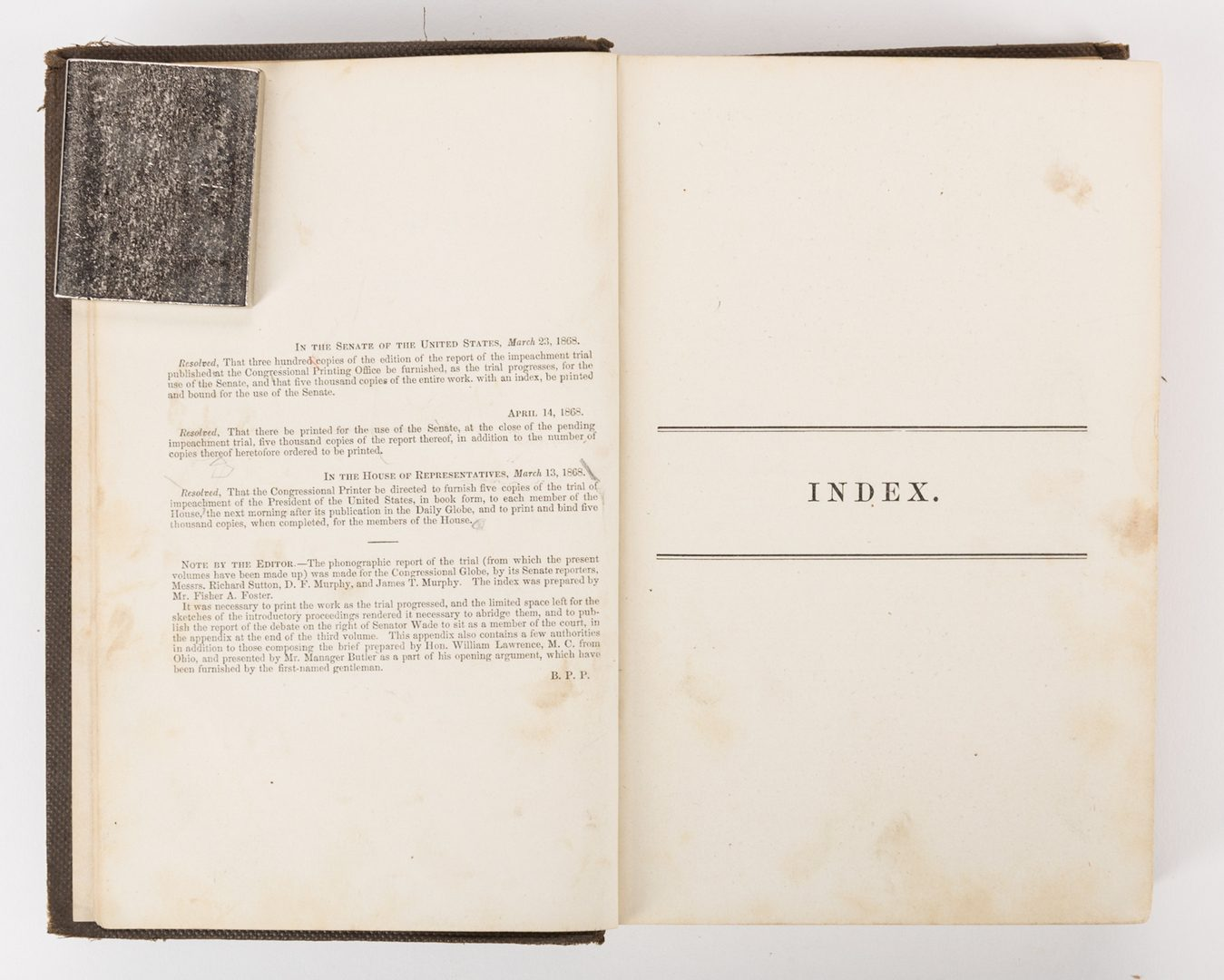 Lot 227: President Andrew Johnson Impeachment Archive, 9 items