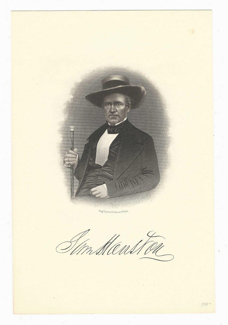Lot 232: S. Houston & J. Buchanan Signed Letter, 2 prints
