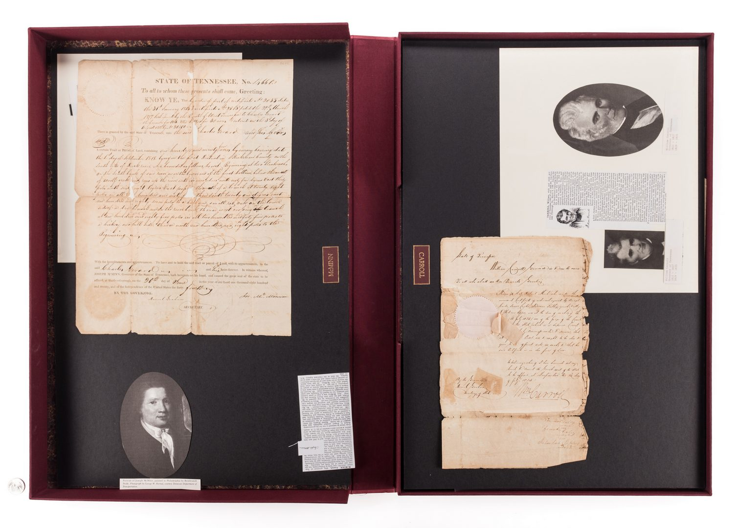 Lot 235: 25 TN Governor Signed Documents, 1820-1923