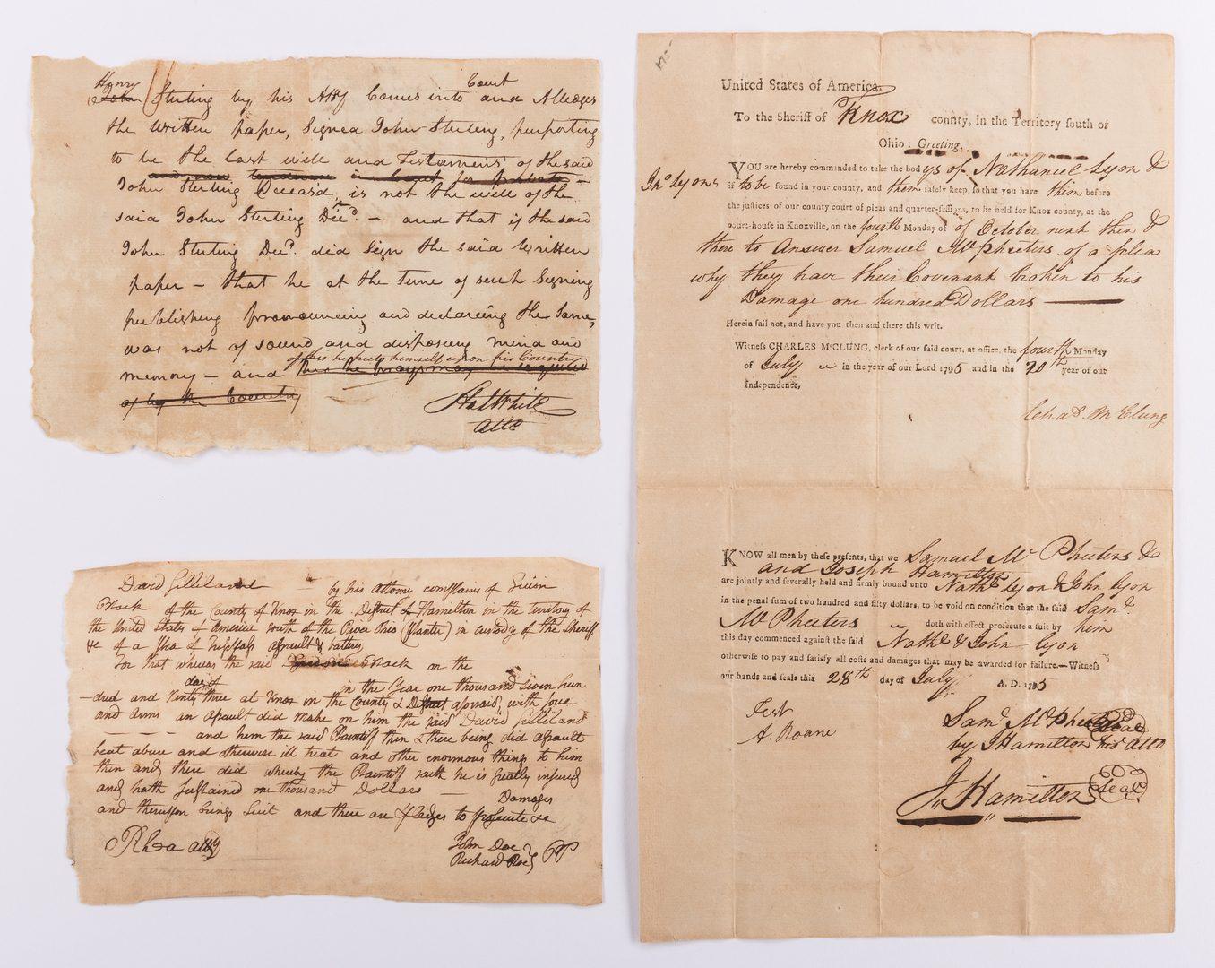 Lot 236: 3 E. Tenn. Autographs, inc. McClung, White and Rhea