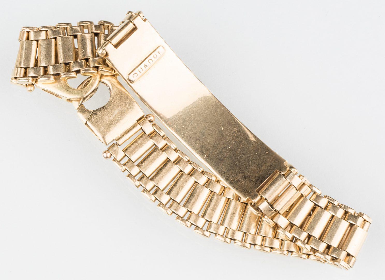 Lot 244: 18K Quadri ID Link Bracelet, 43.9 gram