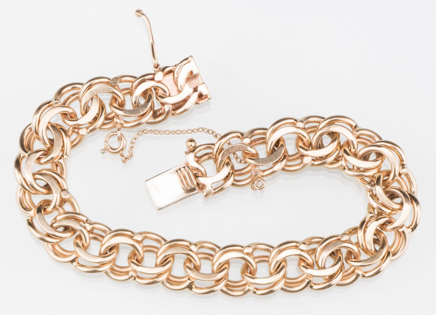 Lot 247: 14K link bracelet, 39.4 grams