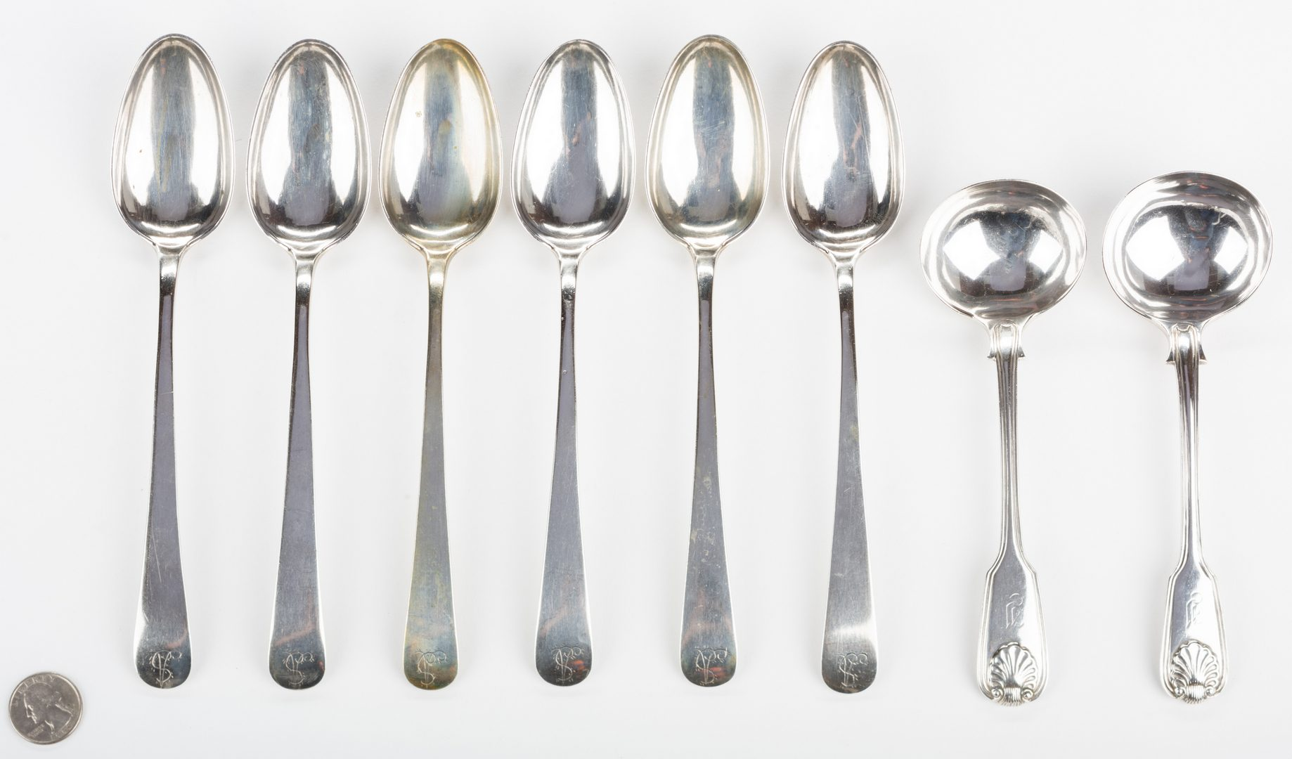 Lot 259: Asian Export Silver Flatware, 8 pcs