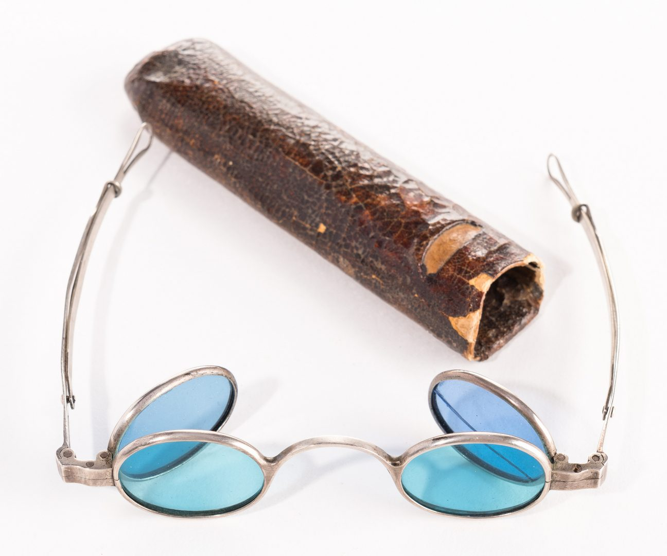 Lot 264: Pr. JS Curtis Marked Spectacles w/ Case